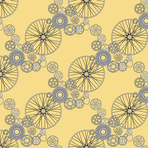 Beautiful bicycle parts - small - pear yellow - F7DD8B