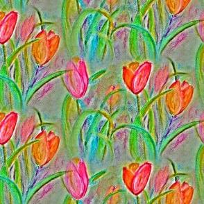 CHALK PASTEL TULIP FIELDS FLOWERS BOUQUETS CHALK PASTEL NEUTRAL BEIGE TAUPE