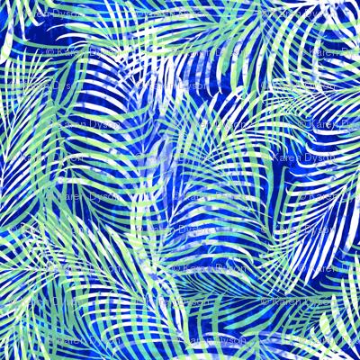 Batik Palms Cobalt 200