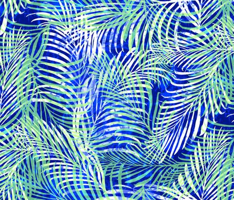 Batik Palms Cobalt 200 fabric by kadyson on Spoonflower - custom fabric