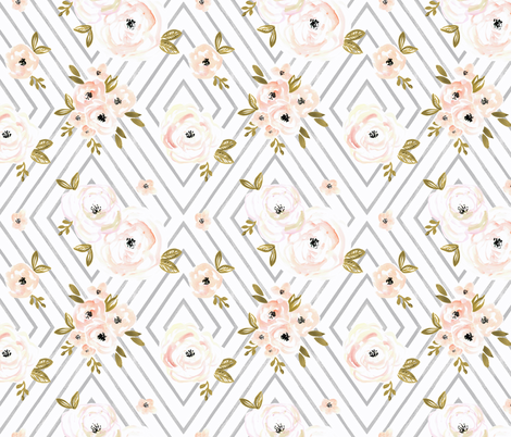 Peach_Roses_Mod Small fabric by crystal_walen on Spoonflower - custom fabric