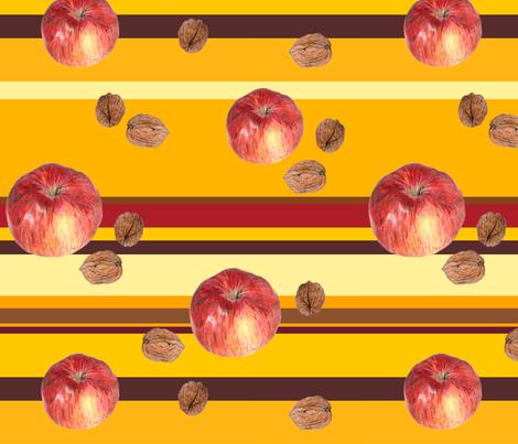 hand-drawn autumn fruits fabric by michaelakobyakov on Spoonflower - custom fabric