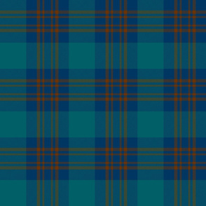 "Inkster tartan, 6"" deep ancient colors"