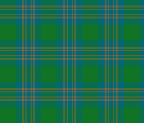 "Inkster tartan, 6"" bright colors fabric by weavingmajor on Spoonflower - custom fabric"