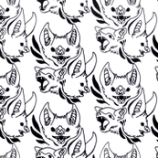 Ornate Bats (White)