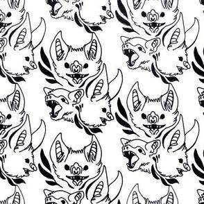 Ornate Bats (White)