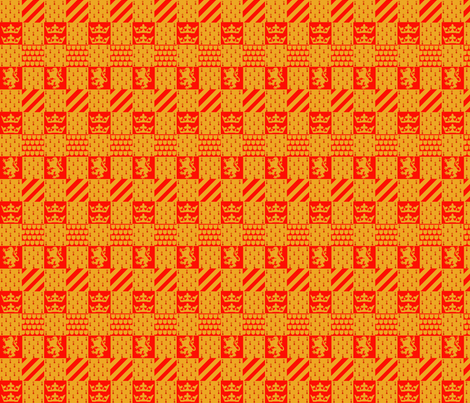 Lion quidditch fabric by bitterfishies on Spoonflower - custom fabric