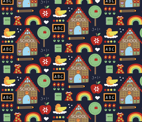 Back to School fabric by kathrinlegg on Spoonflower - custom fabric