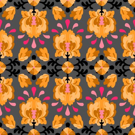 Brilliant Lotus Gold fabric by pond_ripple on Spoonflower - custom fabric