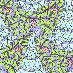 Art Nouveau Peacock  -  Pastel