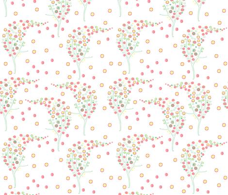 tree_with_dots_seamless_pattern fabric by artgirlangi on Spoonflower - custom fabric