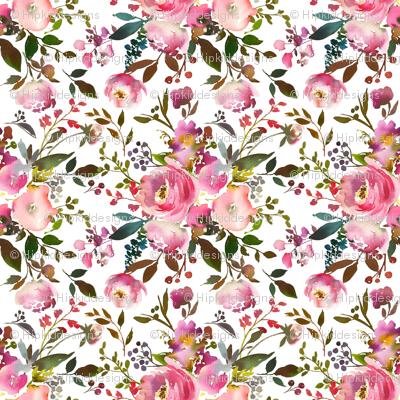 Harper Pink Bouquet Florals
