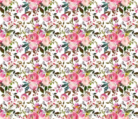 Harper Pink Bouquet Florals fabric by hipkiddesigns on Spoonflower - custom fabric