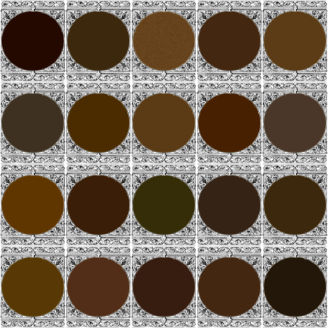 Peacoquette Designs Palette ~ Dark Brown  fabric by peacoquettedesigns on Spoonflower - custom fabric