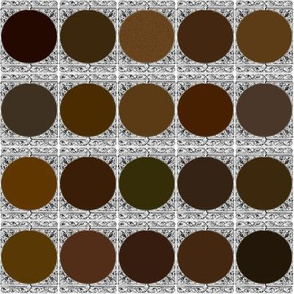 Peacoquette Designs Palette ~ Dark Brown