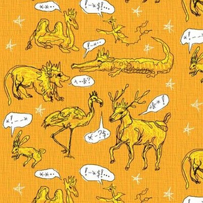 Scribble Animals in Orange