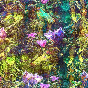 PINK MOSS INDIGO STRIPES DREAMY FLOWERY FAIRY FOREST