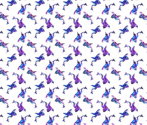 galaxy killer whale fabric by runlenarun on Spoonflower - custom fabric