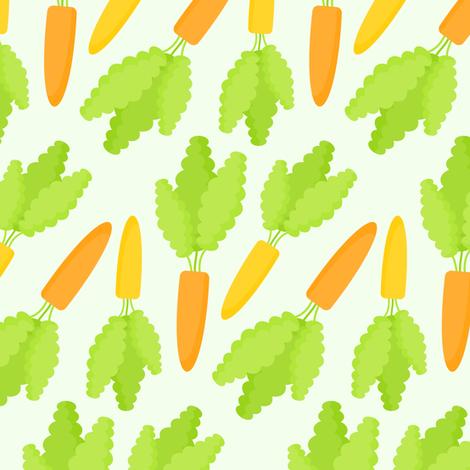 carrot fabric by runlenarun on Spoonflower - custom fabric