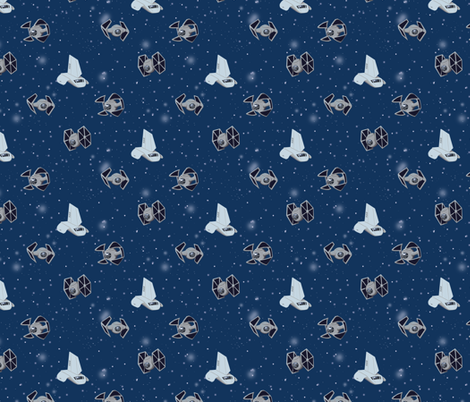 Tiny Starships 3 fabric by charlottebaz on Spoonflower - custom fabric