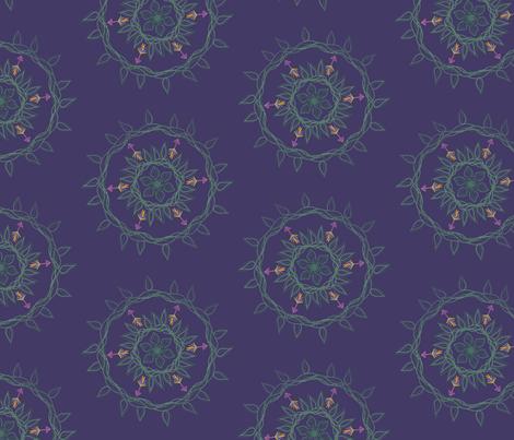 Bohemian Leaf fabric by designmomma on Spoonflower - custom fabric