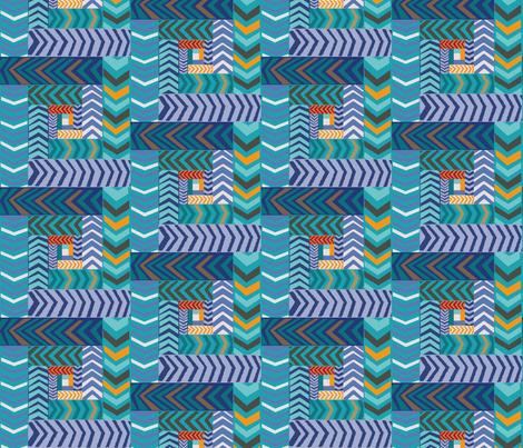 dancing inward fabric by colorofmagic on Spoonflower - custom fabric