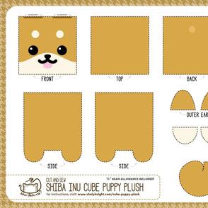 Cut & Sew Shiba Inu Puppy Cube Plush