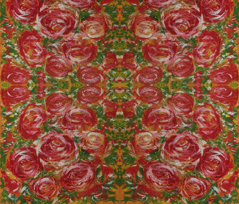 Holiday_Roses fabric by karbstein on Spoonflower - custom fabric