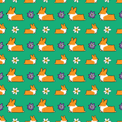Flower Power Red Pembroke Corgi