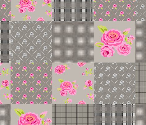 Roses_plaid_gray_wholecloth_quilt_top_shop_preview