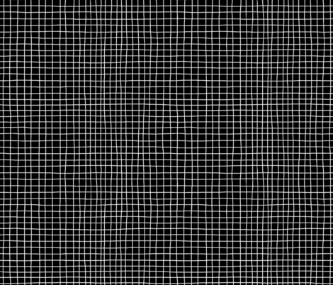B&W Grid fabric by thewellingtonboot on Spoonflower - custom fabric
