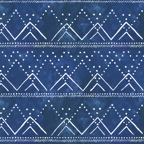 Celestial Mountains Geometric fabric by passionflora_design on Spoonflower - custom fabric