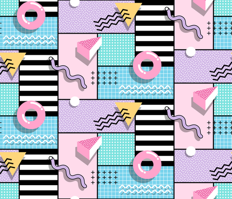 Memphis Party fabric by mia_valdez on Spoonflower - custom fabric