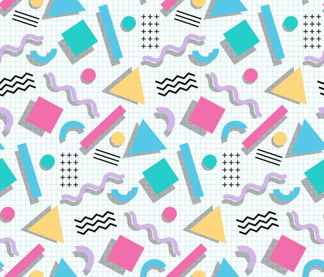 Memphis Shapes fabric by mia_valdez on Spoonflower - custom fabric