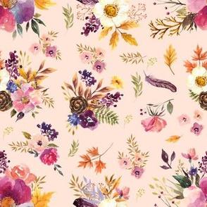 """7"""" Fall Friends Floral - Peach"""