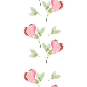 Boho Wedding Day  / Pink Flowers Table Runner