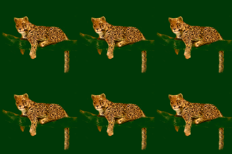 Custom Jaguar for Pillows fabric by eclectic_house on Spoonflower - custom fabric