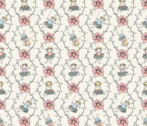 Flowers In Her Hair fabric by miaclarke on Spoonflower - custom fabric