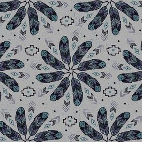 Bohemian Feathers (Gray)