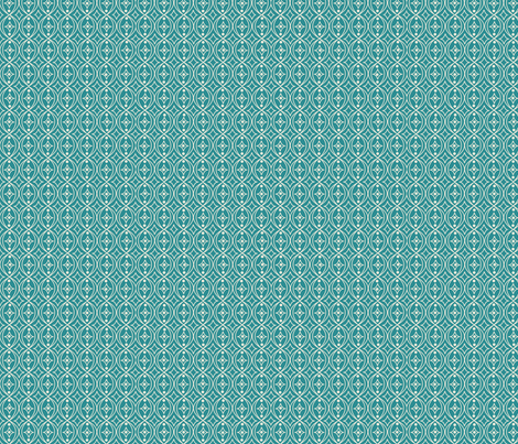 Turquoise Teal Green Taupe Geometric Scroll fabric by phyllisdobbs on Spoonflower - custom fabric