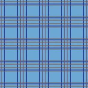 Minimal Plaid in Blue and Brown
