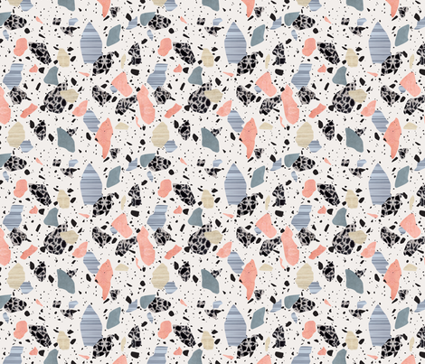 peach terrazzo print fabric by fossyboots on Spoonflower - custom fabric