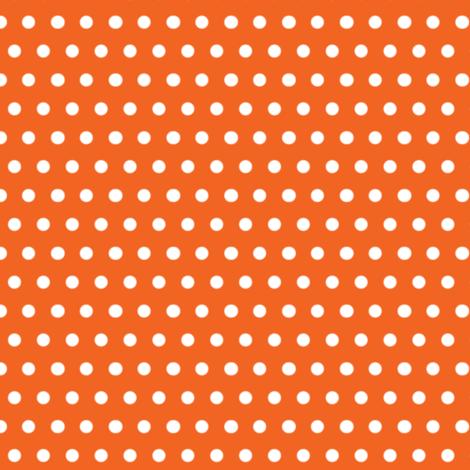 White Polka Dot on Orange fabric by fabrique_dubois on Spoonflower - custom fabric