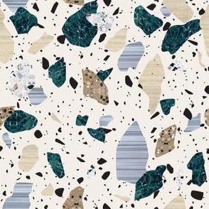 Green & Cream Terrazzo Pattern