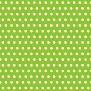 Spherical Yellow Dots on Lime Green