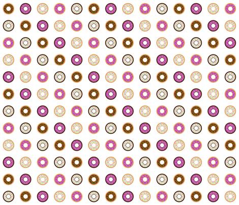 Donuts fabric by hschmitz on Spoonflower - custom fabric