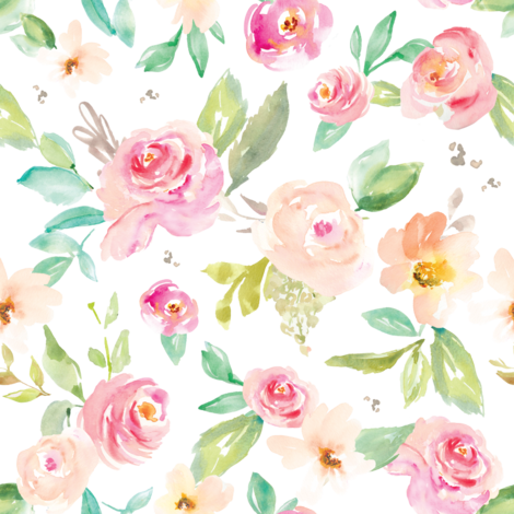 Petal Fall on White fabric by angiemakes on Spoonflower - custom fabric
