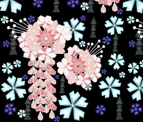 Bohemian Kanzashi fabric by lanie-alvee on Spoonflower - custom fabric