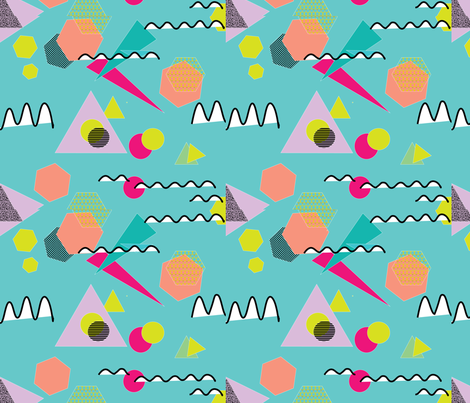 memphis fabric by teal_feather on Spoonflower - custom fabric