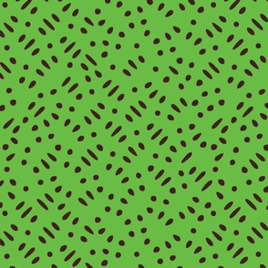 Sesame Seeds and Rice on Fluorescent Green Upholstery Fabric